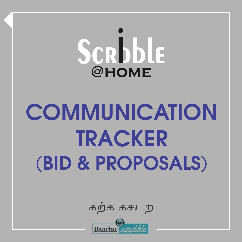 Communication Tracker (Bid & Proposals)