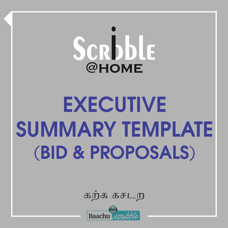 Executive Summary Template (Bid & Proposals)