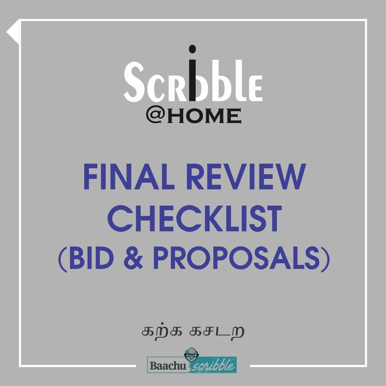 Final Review Checklist (Bid & Proposals)