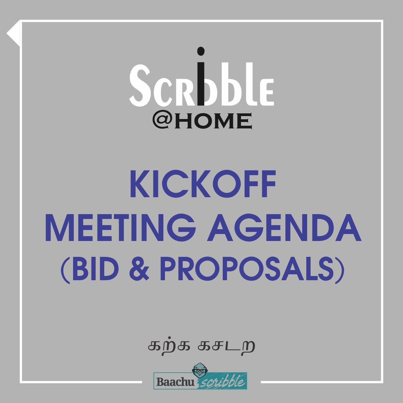 Kickoff Meeting Agenda (Bid & Proposals)