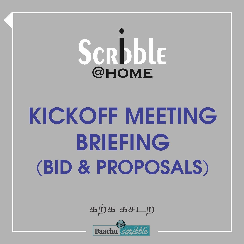 Kickoff Meeting Briefing (Bid & Proposals)