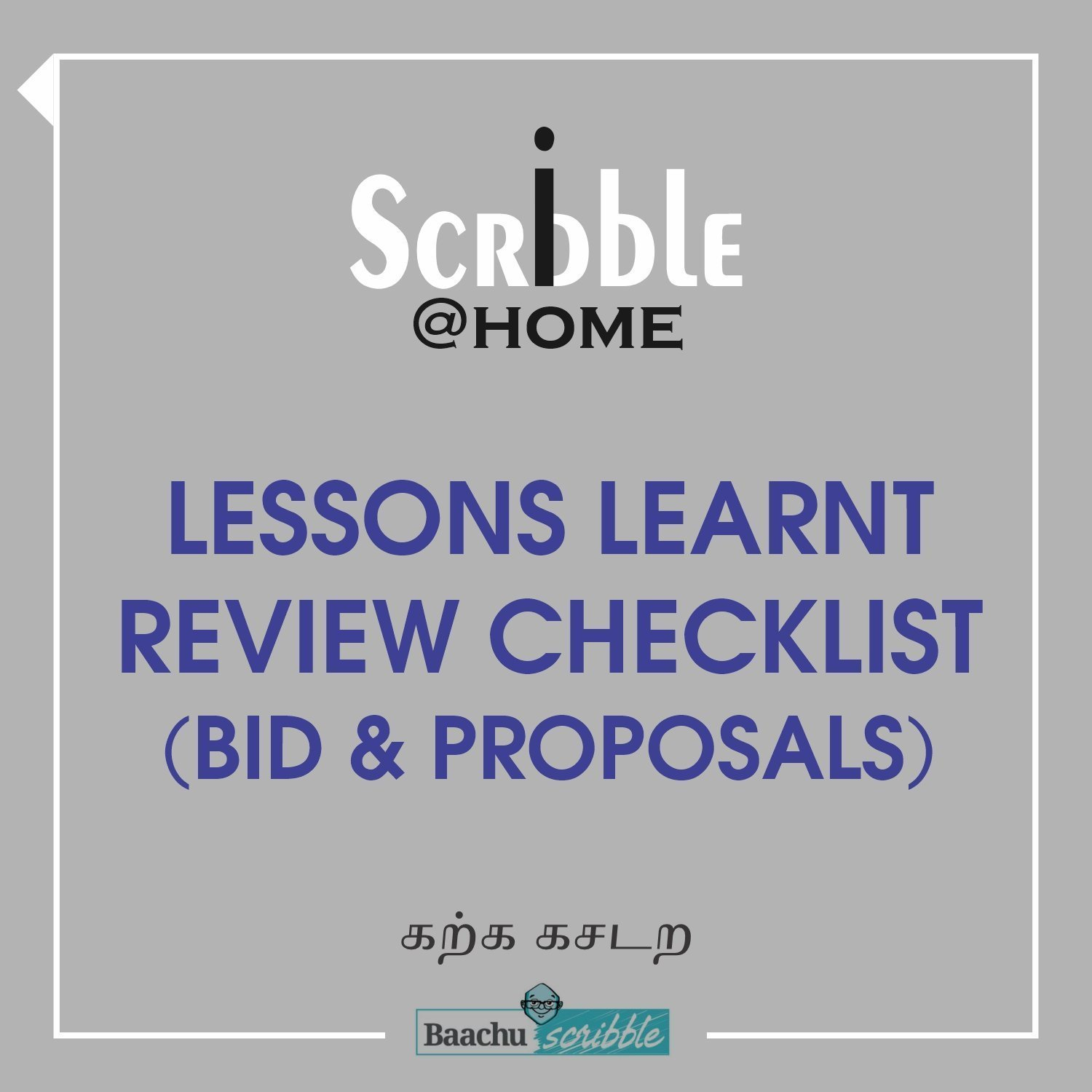 Lessons Learnt Review Checklist (Bid & Proposals)