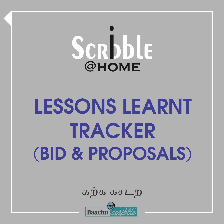 Lessons Learnt Tracker (Bid & Proposal)