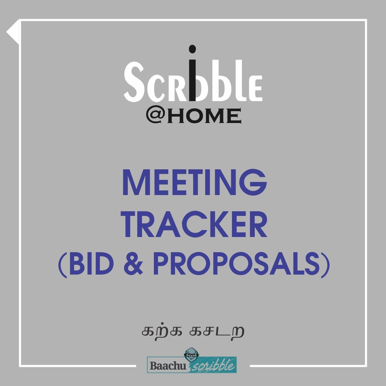Meeting Tracker (Bid & Proposals)