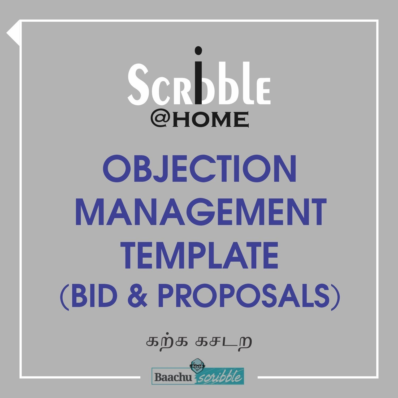 Objection Management Template (Bid & Proposals)