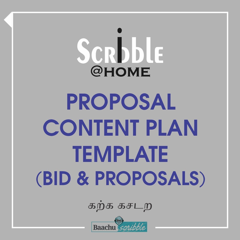 Proposal Content Plan Template (Bid & Proposals)