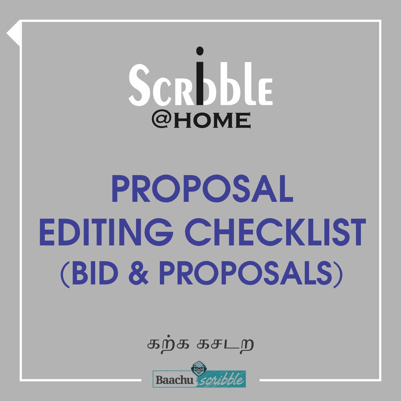 Proposal Editing Checklist (Bid & Proposals)