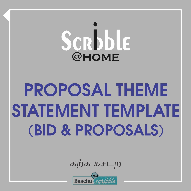 Proposal Theme Statement Template (Bid & Proposals)