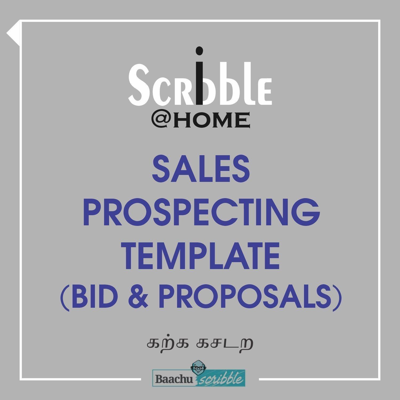 Sales Prospecting Template (Bid & Proposals)