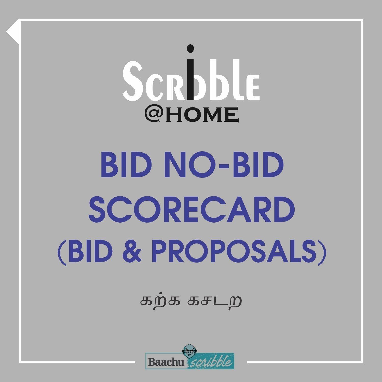 Bid No-Bid Scorecard (Bid & Proposals)