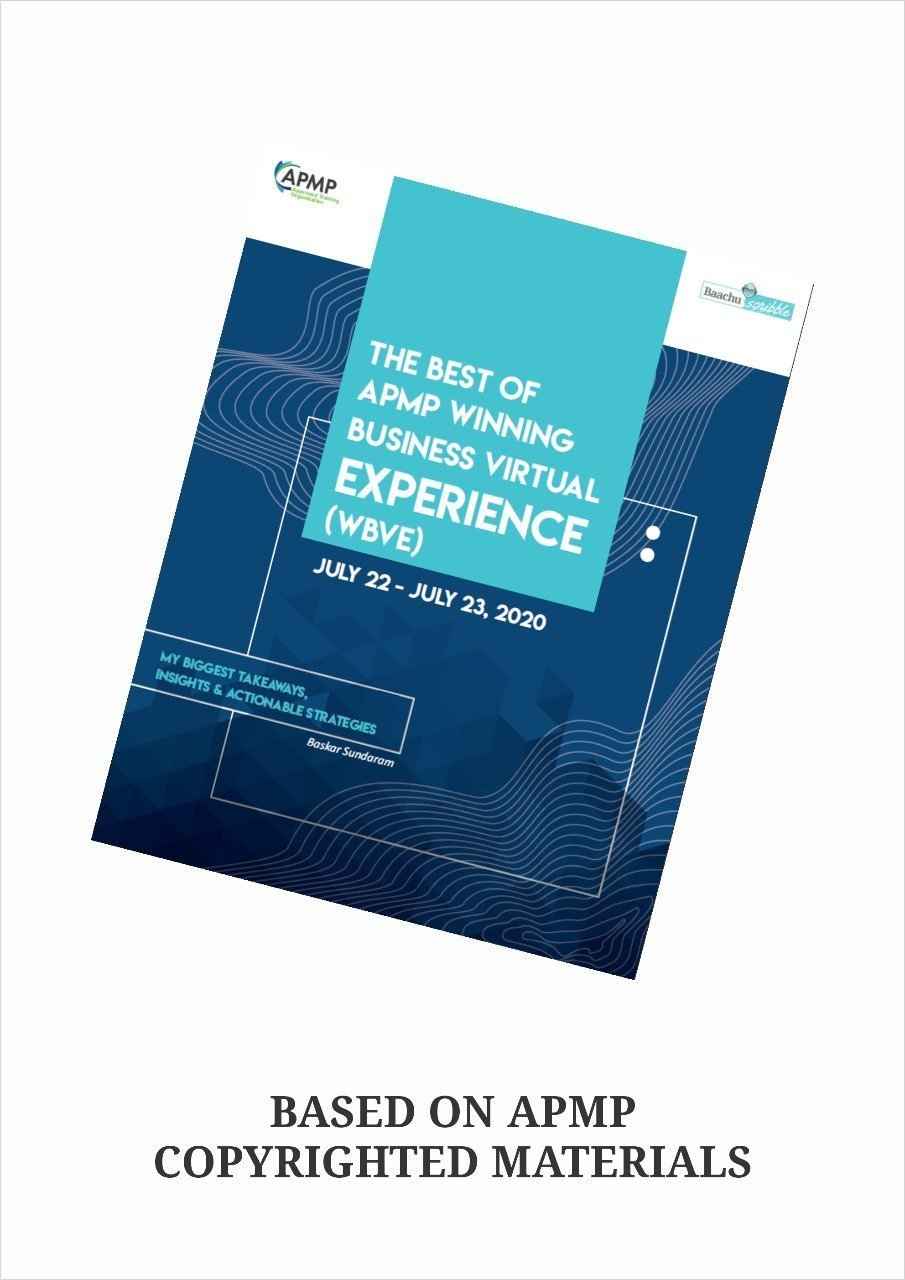 The Best of APMP Winning Business Virtual Experience (WBVE) – E book