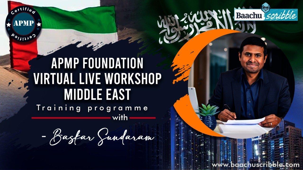 APMP Foundation Virtual Live Workshop ,Middle East