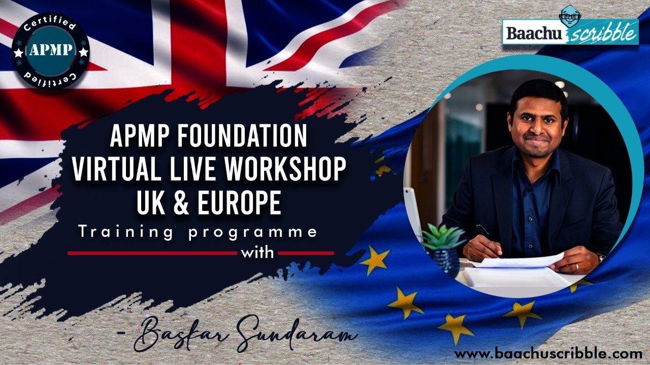 APMP Foundation Virtual Live Workshop ,UK And Europe